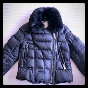 Kids Burberry Puffer Jacket with Fur Trim size 3